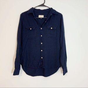 Universal Thread Blue and Black Plaid Flannel GUC